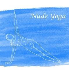 Nude yoga vector