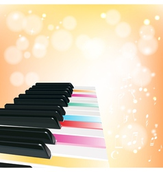 Piano musical background with sparkles vector