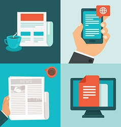 News concepts in flat style vector