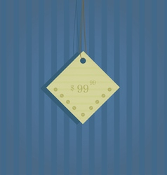 Original label with the price on a blue background vector