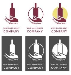 Wine logo company - sales direct vector