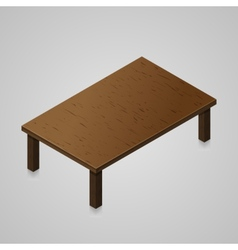 Isometric woden kitchen table vector