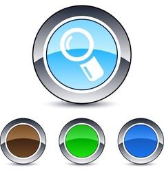 Zoom round button vector