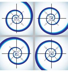 Abstract crosshair vector