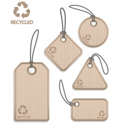 Recycled paper tags vector