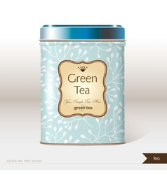 Box tea with place for your text vector