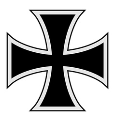 Teutonic cross vector