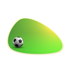 Green banner with soccer ball vector