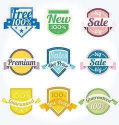 Sales new premium quality labels set vector