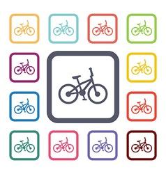 Bike flat icons set vector