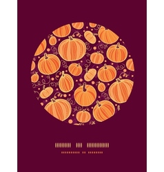 Thanksgiving pumpkins circle decor pattern vector