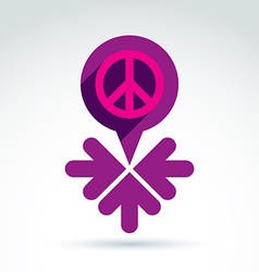 Peace propaganda icon with arrows working and vector