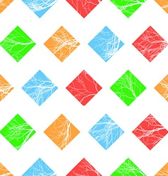 Abstract colorful squares seamless pattern vector