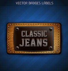 Classic jeans label vector