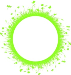 Green grass on circle vector