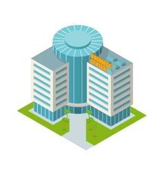 Business center building isometric vector