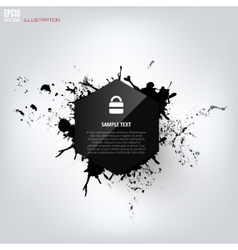 Black abstract geometric background with splash vector