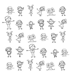 Cartoon character kids playing vector