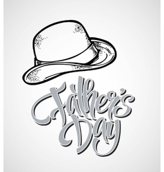Happy fathers day hand lettering card vector