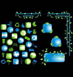 High gloss eco design elements vector