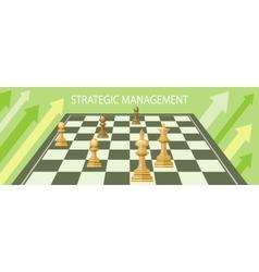 Business strategic management vector