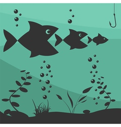 Fishing on the boat fishing design elements vector