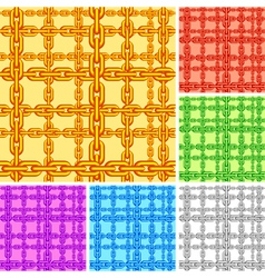 Seamless chain pattern vector