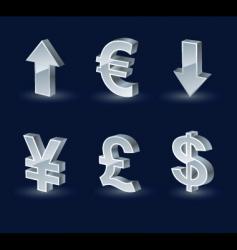 Vista monetary arrows vector