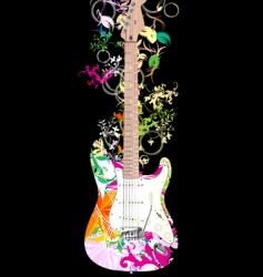 Digital guitar vector