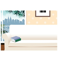 Apartment cityscape view vector