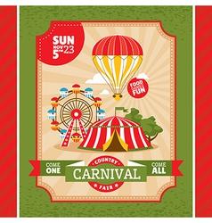 Country fair invitation card vector