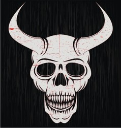 Skulls of demon vector