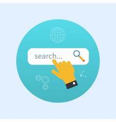 Internet search concept with search box vector