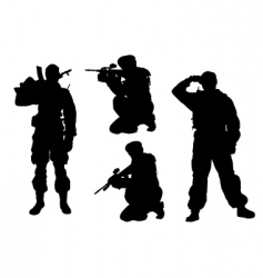 Soldier silhouette vector