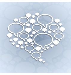 Chat bubble symbol on light grey background vector
