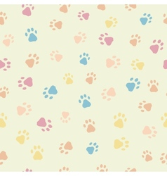 A seamless pattern of cats dogs prints vector