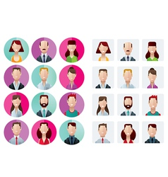 Profile icons office people vector