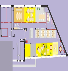 Plan office vector