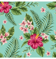 Floral seamless patterns vector