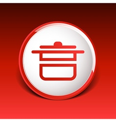 Saucepan food menu kitchen soup pot design cooking vector