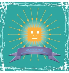 Simple sun cartoon vector