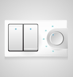 White switch with dimmer vector