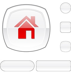Home white button vector