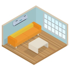Isometric interior lounge room vector