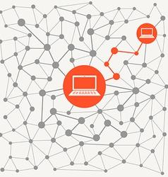Abstract scheme of modern computer network vector