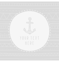 Anchor greeting card template vector