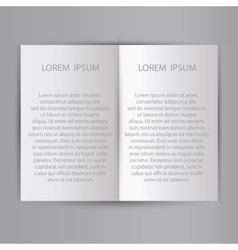 Folded sheet of paper blank brochure template vector