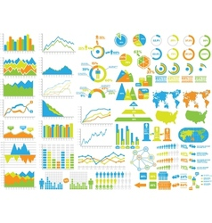 New style web elements infographic demographic toy vector