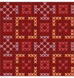 Embroidered pattern vector