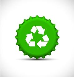Green bottle tops vector